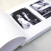 Personalised Hand Foiled Silver Hearts Wedding Photo Album