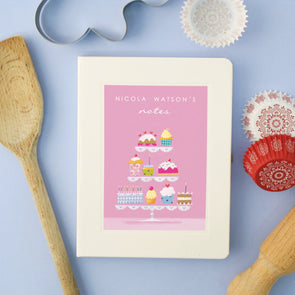 Personalised Cakes Hardback Lined Notebook