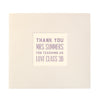 Personalised Typographic Thank You Teacher Message Book
