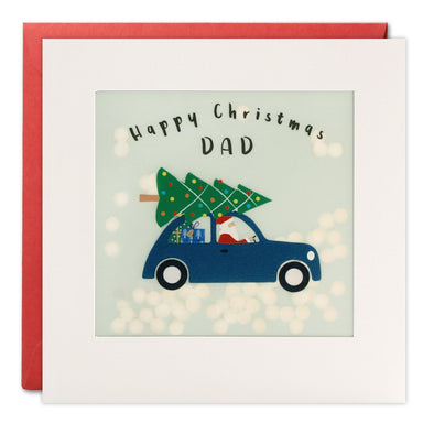 RPP3449 - Dad Car Christmas Paper Shakies Card