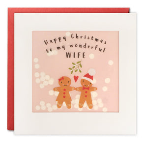 RPP3456 - Wife Gingerbread Christmas Paper Shakies Card