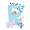 Personalised Illustrated Letter R Baby Photo Album