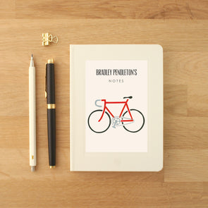 Personalised Bike Hardback Lined Notebook