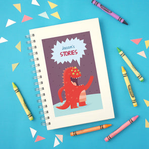 Children's monster notebook with personalised text