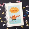 Personalised Scooter Monster Wire Bound Children's Notebook