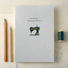 Personalised Sewing A5 Cloth Bound Notebook
