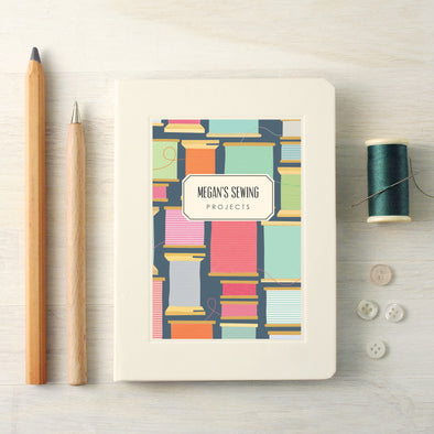 Personalised Sewing Hardback Lined Notebook