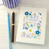 Personalised Patterned Thank You Teacher Hardback Notebook