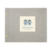 Personalised Blue Baby Shoes Photo Album