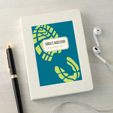 Running notes notebook with personalised text