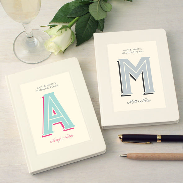 Couples matching wedding plans notebooks
