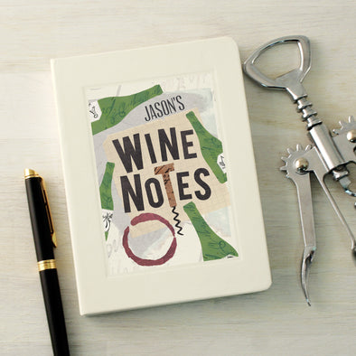 Wine Lovers notebook with personalised text