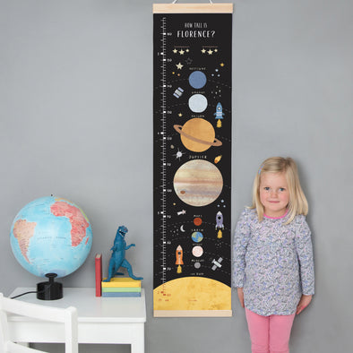 Personalised Solar System Height Chart