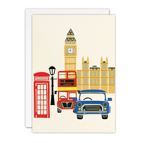 Houses of Parliament London Blank Retro Press Card
