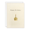 Gold Cupcake Birthday Card by James Ellis