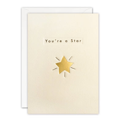 Gold Star You're a Star Card by James Ellis