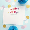 Personalised Note Cards With Colourful Hearts Design