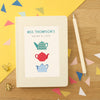 Personalised Thank You Teacher Notebook Teapots Design