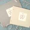 Personalised Two Hearts Cloth Bound Photo Album With Box