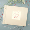 Personalised love hearts album with glitter and a box
