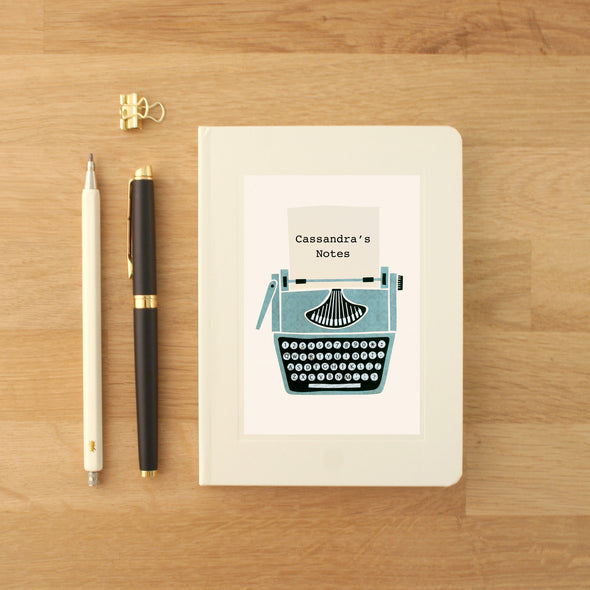 Personalised Typewriter Hardback Lined Notebook