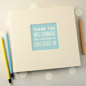 Thank you teacher message book with personalisation