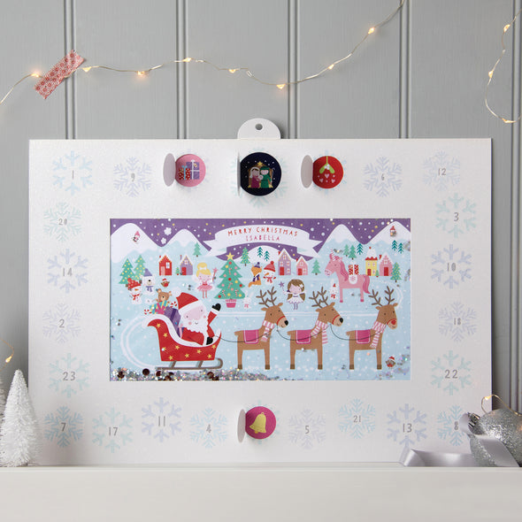 Personalised Shakies Unicorn Advent Calendar