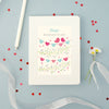 Personalised Wedding Engagement Plans Notebook With Heart Bunting