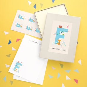 Personalised Illustrated Letter F Writing Set