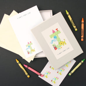 Personalised Illustrated Letter J Writing Set