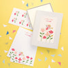 Personalised Children's Writing Set With Flower Fairy Design