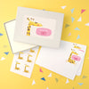 Personalised Children's Writing Set With Giraffe Design