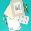 Personalised Illustrated Letter M Writing Set