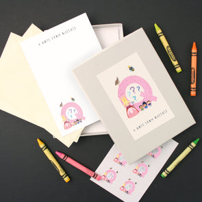 Personalised Illustrated Letter Q Writing Set