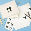 Personalised Sewing Machine Writing Set With Stickers