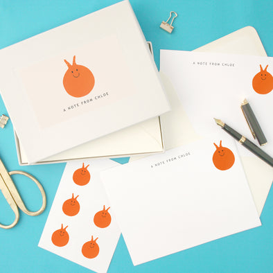 Personalised Space Hopper Writing Set With Stickers