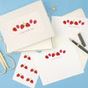 Personalised Strawberries Writing Set With Stickers