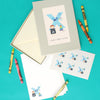 Personalised Illustrated Letter X Writing Set