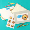 Personalised Children's Writing Set With Lion Design