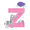 Personalised Illustrated Alphabet Letter Z Children's Notebook