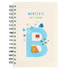 Personalised Illustrated Alphabet Letter B Children's Notebook