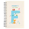 Personalised Illustrated Alphabet Letter F Children's Notebook