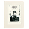 Camera photography notebook with personalised text