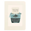 Personalised Thank You Teacher Notebook Typewriter Design