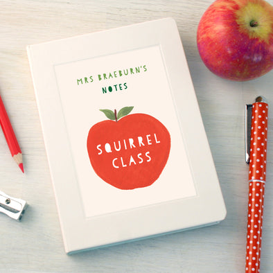 Thank you teacher apple design notebook with personalisation