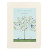 Illustrated tree notebook with personalised text