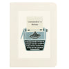 Typewriter notebook with personalised text