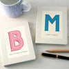 Personalised notebook with initial and name