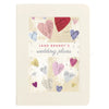Personalised Wedding Engagement Plans Notebook With Colourful Hearts