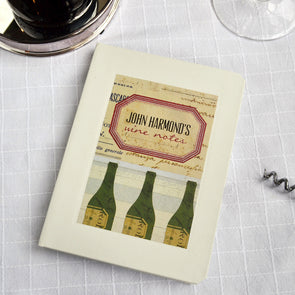 Personalised Wine Hardback Lined Notebook